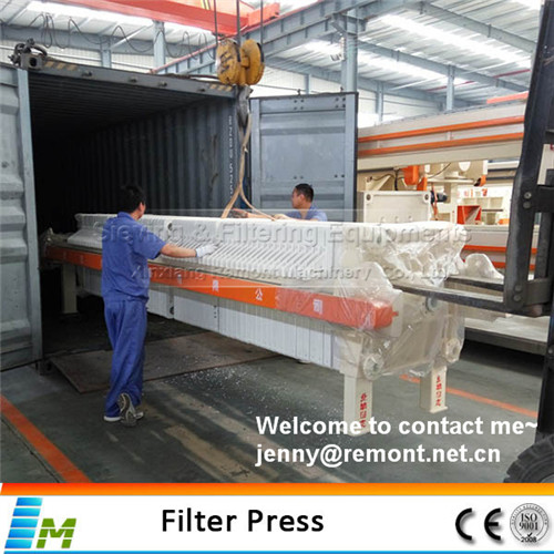 High efficiency filter press for iron ore