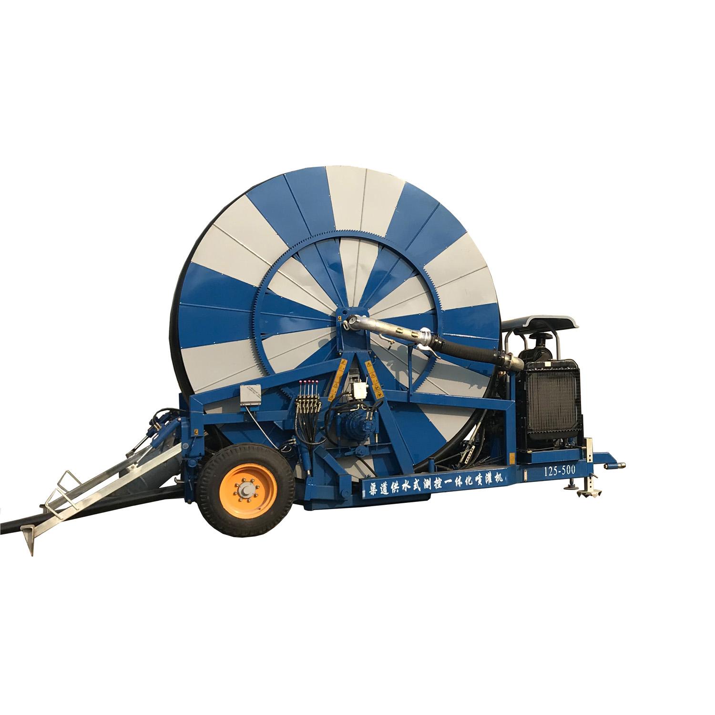 Agricultural Flexible 180m-500m JP Hose Reel Irrigation Sprinkler Equipment