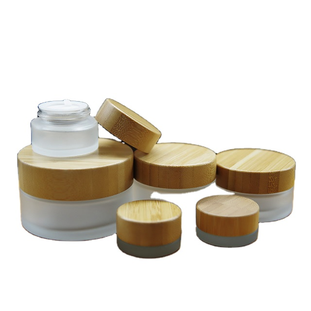 High-end Biodegradable Airless Bamboo Cosmetic Packaging Jar