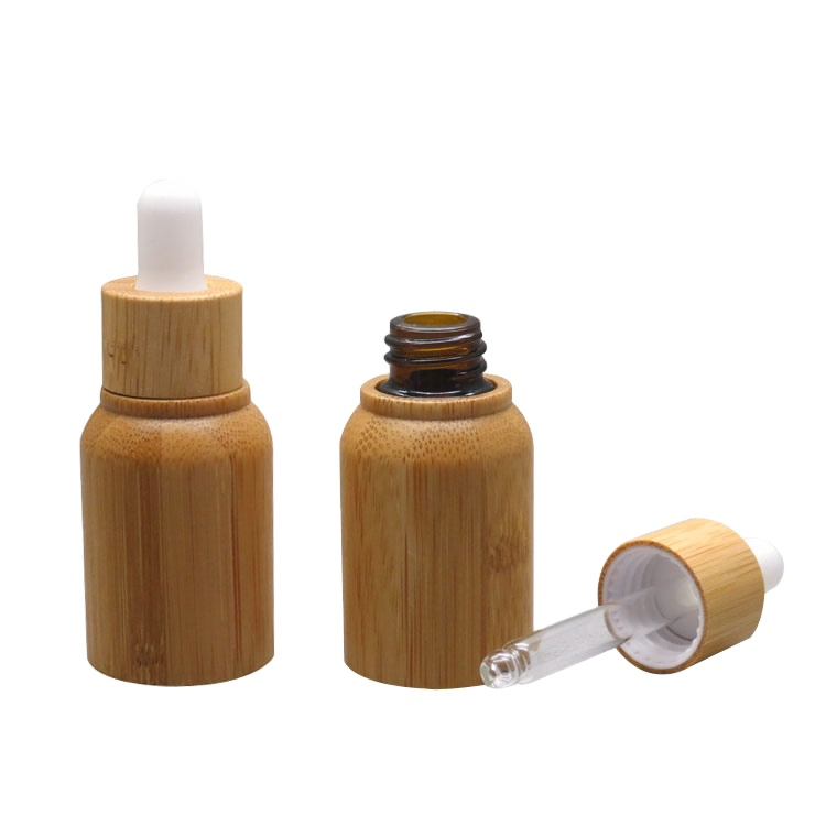 New 5ml glass roller bottle massage acne sub-pack bamboo cosmetic bottle