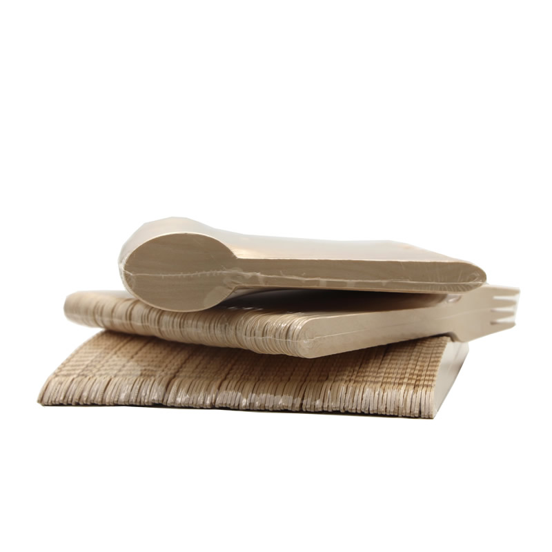 Disposable biodegradable wooden tableware