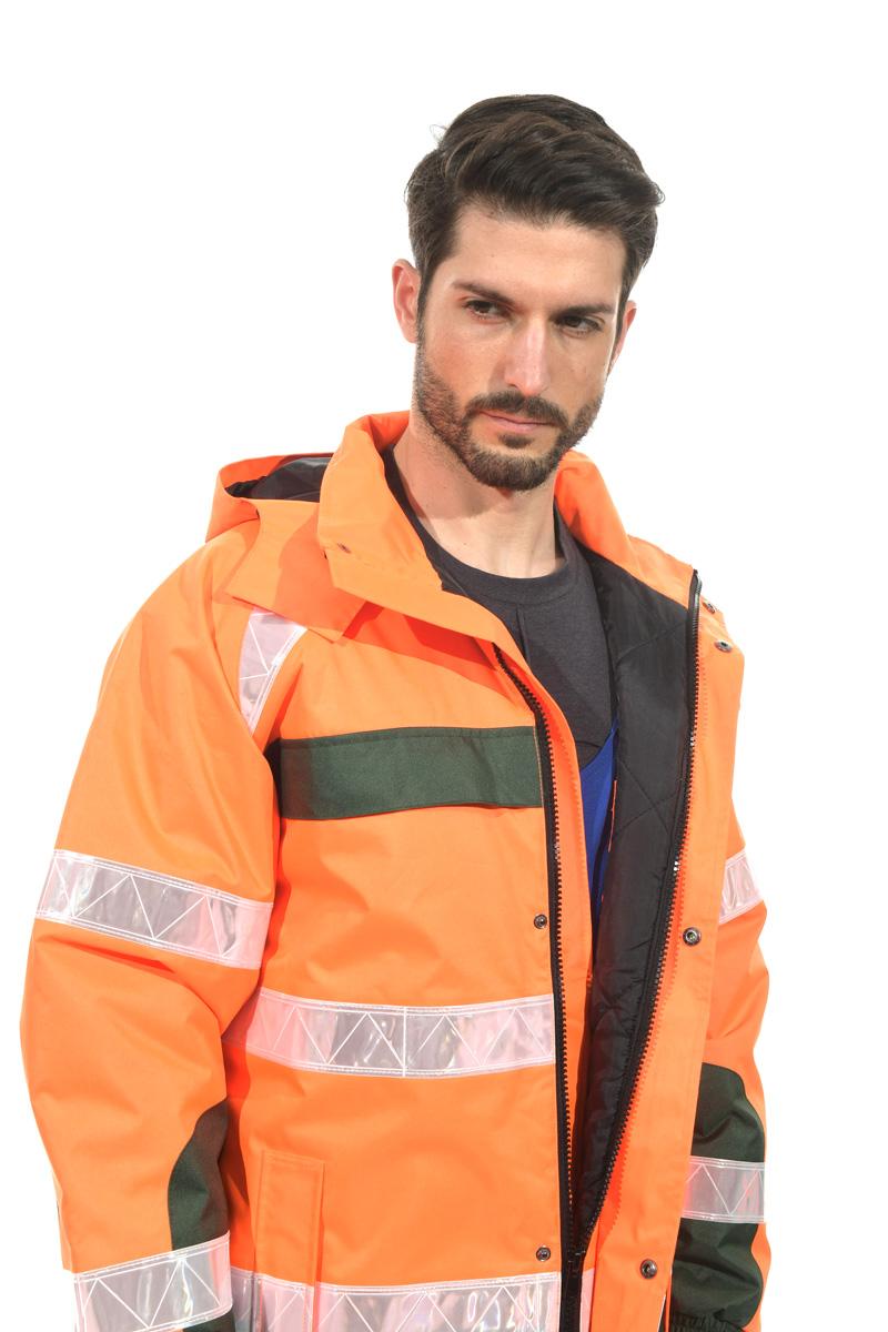 HI-vis Orange reflective jacket